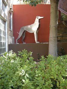 "Picture of Ken Kalman sculpture ""Greyhound 2"""