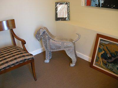 """Picture of Ken Kalman's sculpture """"Schnauzer Puppy""""."""