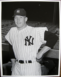 Photo of Osvaldo Salas's photograph of Mickey Mantle.