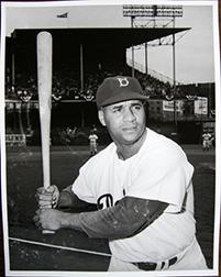 Photo of Osvaldo Salas's photograph of Roy Campanella.