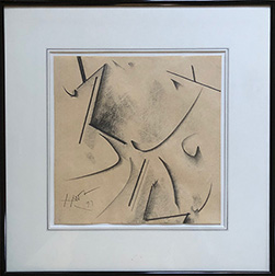 "Photo of Hassel Smith's abstract drawing ""H."""