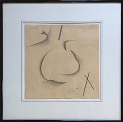 "Photo of Hassel Smith's abstract drawing ""I."""